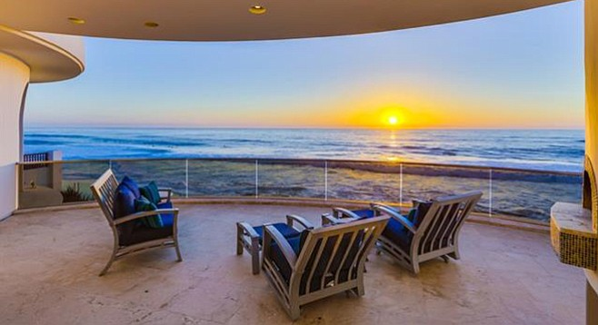 The home's rooms are all positioned to take advantage of  whitewater views.