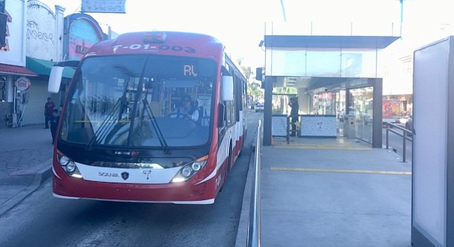 The system has a fleet of Scania buses