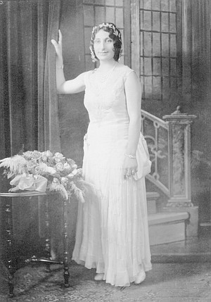 """Thelma, gowned for her brother's wedding, 1930. Mary Ann: """"She was pregnant with me and just beginning to show."""""""