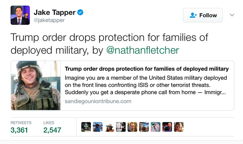 Jake Tapper tweet