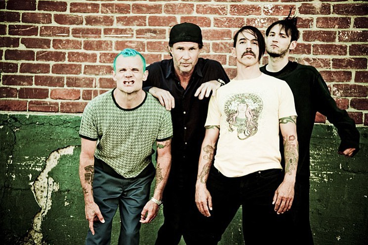 Funk-rock four-piece the Red Hot Chili Peppers will slappa de bass at the Valley View Casinorena Sunday night.