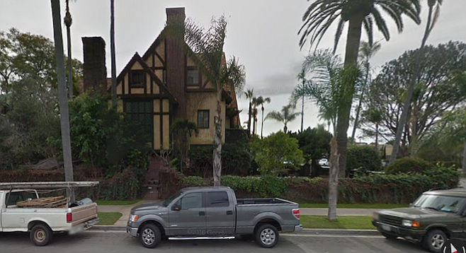 The Hansen mansion at 7th Street and A Avenue has some history as a Hollywood party house.