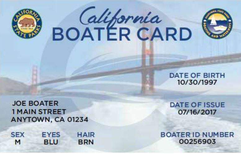 California boater card to be required starting 2018 san for California fishing license 2017