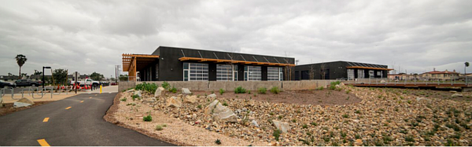 The industrial site being converted into a Coronado Brewing brewpub