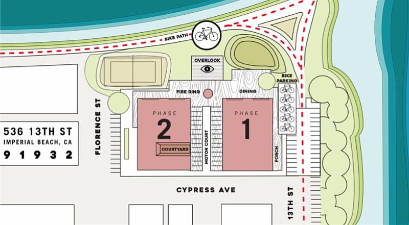 A basic site plan released of the Bikeway Village development