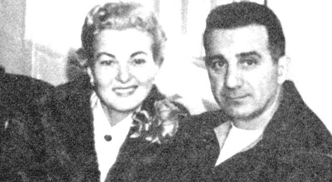 "Jewel and Jimmy Fratianno. Fratianno cajoled Bompensiero, ""What's wrong with you? These guys couldn't clip a flea. Rosselli tells me Desimone's scared of his shadow."""