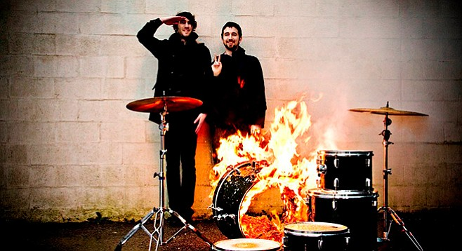Post-rock Canada band Japandroids winds up the Music Box Saturday night.