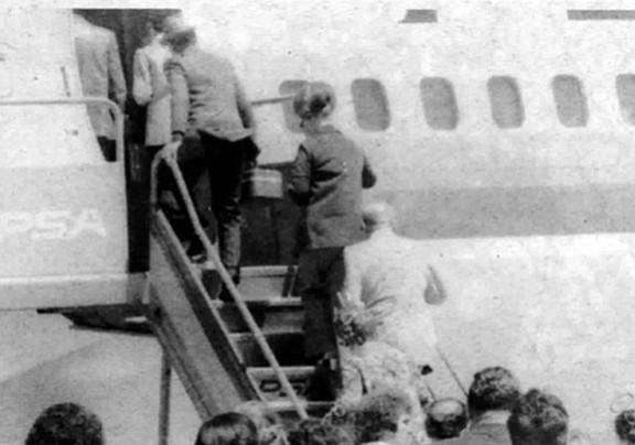 FBI surveillance photo of Bompensiero leaving for San Francisco, c. 1976