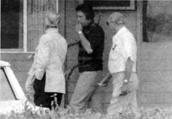 FBI surveillance photo of Larry Saunders, Chris Petti, and Bompensiero