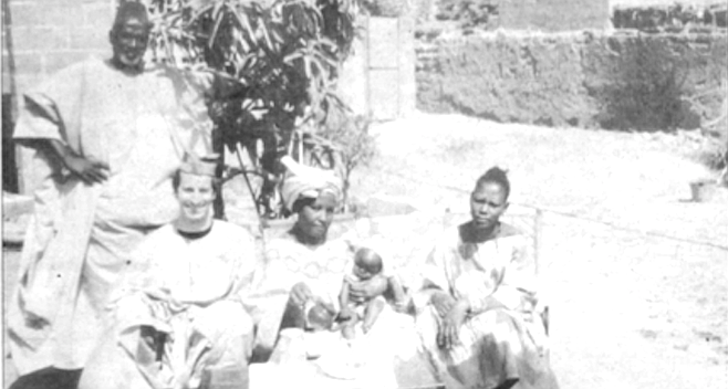 Haba (standing), the author, Tanti, baby Terry at two months, and Hatouma. I have fantasized about moving my practice to Mali.