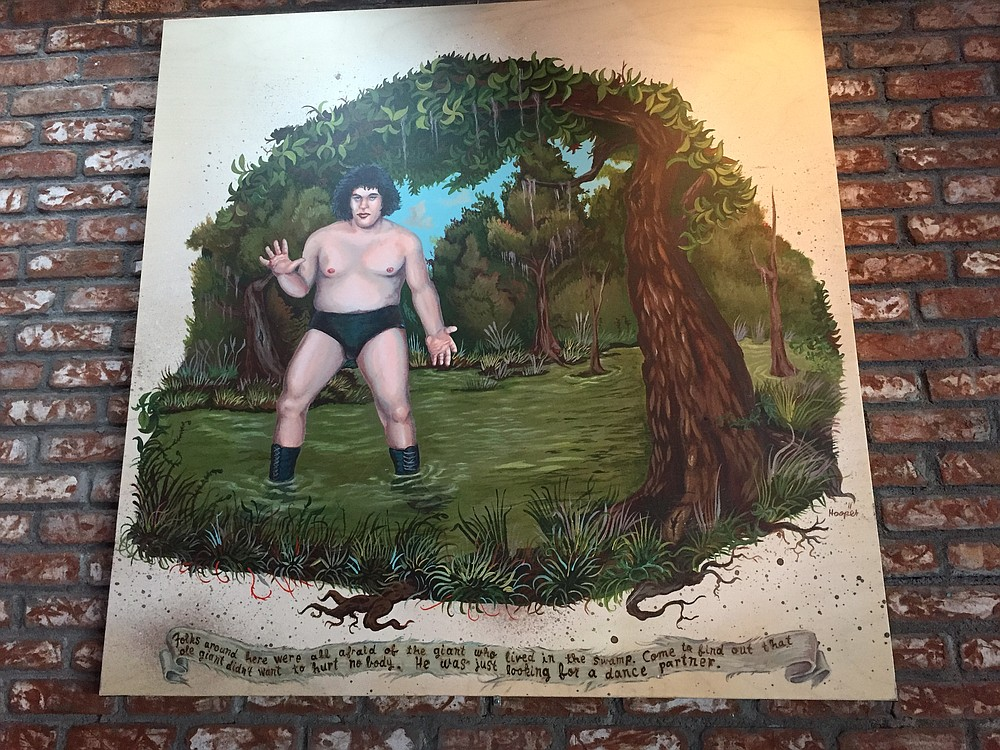 After you get your drink on, this painting of wrestling legend Andre the Giant has even more appeal.