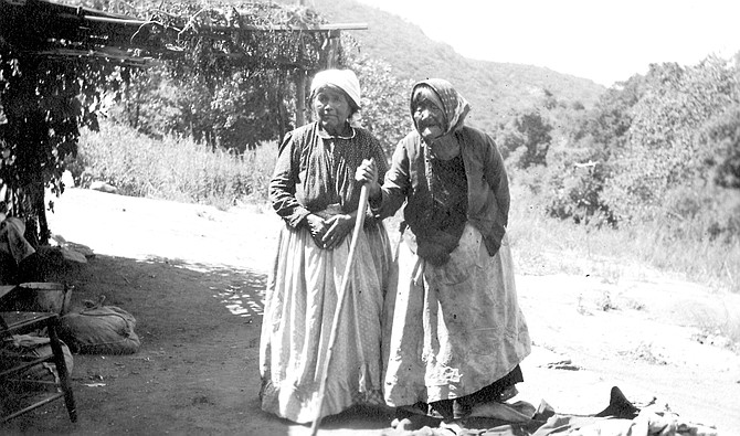 """Delfina (pictured, right) married Sebastian Osun (""""wasn't much of a talker, but a real good man""""), whom her parents had picked for her."""