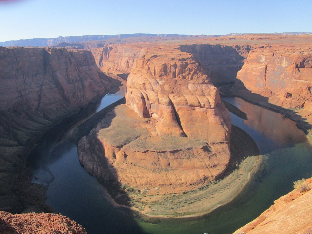 Westworld, or Horseshoe Canyon? This panorama looks straight out of the HBO series.