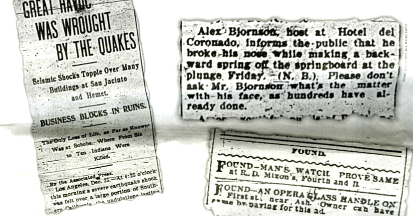 San Diego newspaper headlines in 1899   San Diego Reader