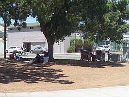 North Park Park, homeless trying to rest during the day, just before <a href=