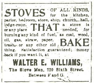 Ad from San Diego Union, 1899.