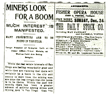 From San Diego Union.  By 1875 mines were closing, but gold miners continued to wrest a living from the mountains.