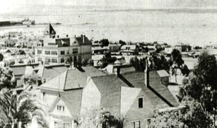 Southwestern view of downtown San Diego, c. 1900.