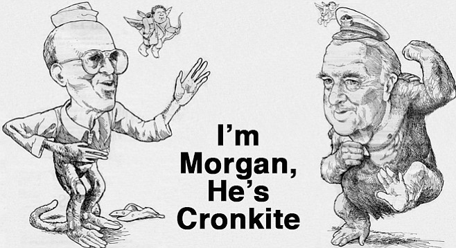 Careful lest the public forget how very close they are, Morgan has chronicled his Master's every move, thought, and desire. They have even sailed together, as Morgan ofttimes has reminded us.