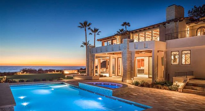 """The saltwater pool contributes to """"the perfection of living at the water's edge."""""""