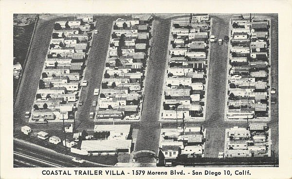 After WWII, the site was converted from military barracks to an RV park.