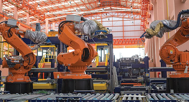 """If the Trump administration can """"bring back"""" manufacturing jobs, robots will be doing the manufacturing."""