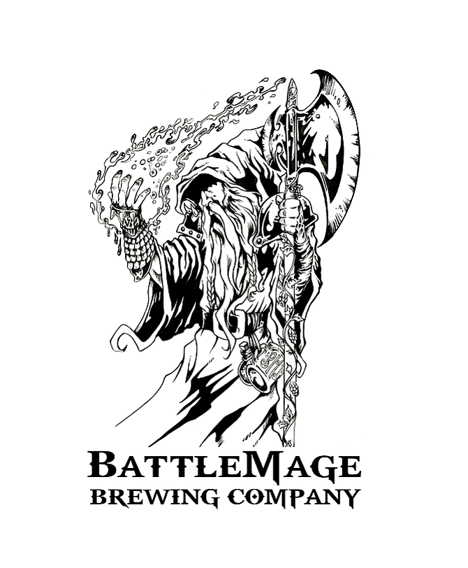 Battlemage logo designed by comic-book artist David Miller