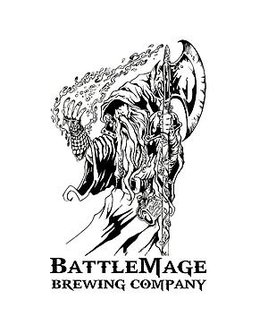 Battlemage logo designed by comic-book artist David Miller