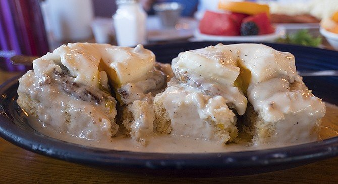 The $13.95 country-style Benedict