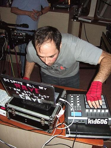 Famous former San Diegan, the beat master Kid606 will open the show for Xiu Xiu at A Ship in the Woods on Friday.