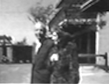 Clara and Jacques in La Jolla. They married in 1944; he was 50, she was 70. He began borrowing from Clara's assets — valued in the hundreds of thousands.