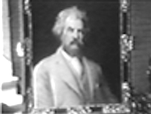 Painting of Twain prized by Clara