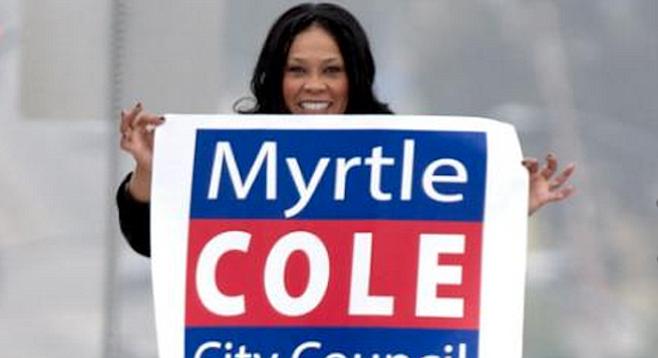 Council president Myrtle Cole
