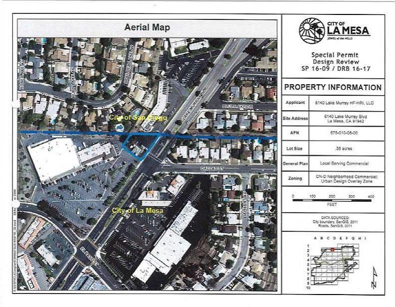 Aerial map showing future Starbucks site