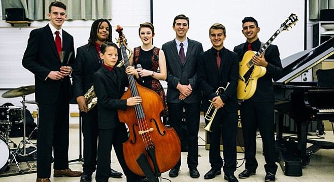 San Diego's International Academy of Jazz 9 a.m. Ensemble is competing for a spot in the Monterey Jazz Festival in September. - Image by Robert Sanchez