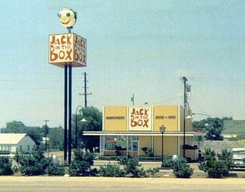A 1960's designed Jack in the Box. Cardiff by the Sea's was built in 1967 and originally looked almost exactly like this one.