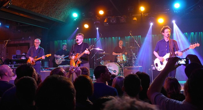 Teenage Fanclub's Norman Blake took a stroll back to his amplifier and cranked that puppy up.