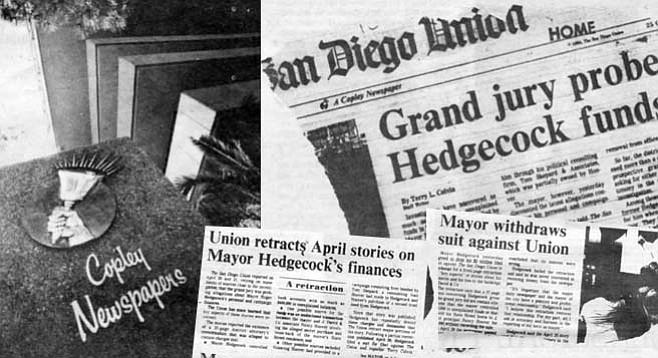 Despite the festering labor dispute, the Union and Tribune continue to prosper financially. - Image by Joe Klein