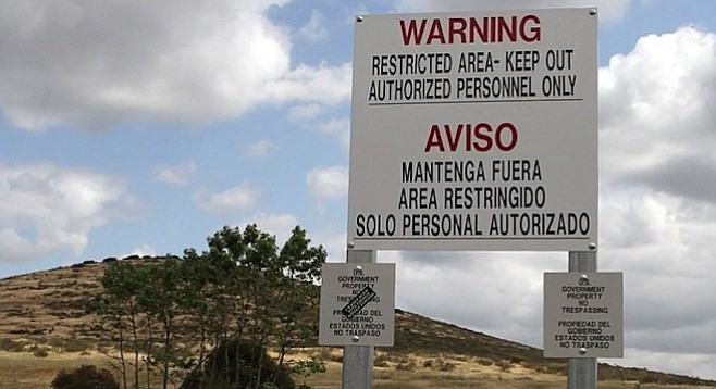 Signs posted at MCAS Miramar