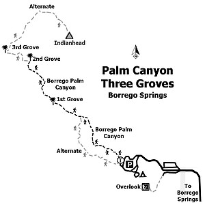 Palm Canyon — Three Groves trailmap