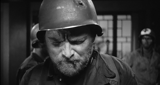 """Gene Evans in Samuel Fuller's The Steel Helmet: """"One of the greatest performances I've seen."""""""