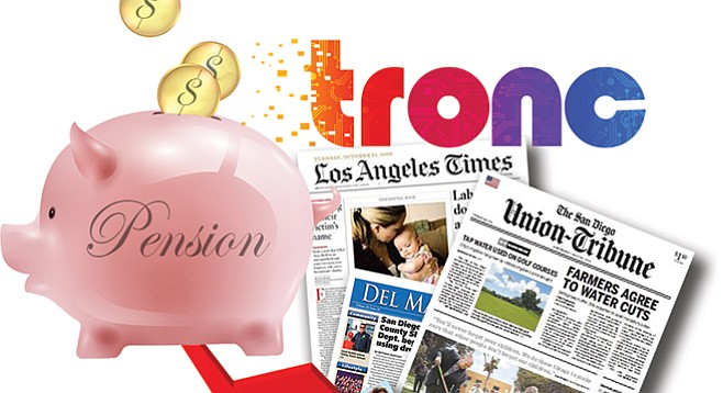 Amid a pension-funding shortfall, tronc's reported deal to buy a big celebrity magazine has been trashed.