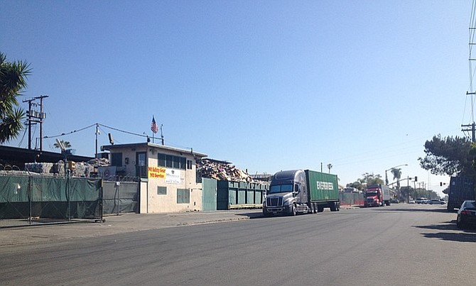 The large recycling center at one end of Boston Avenue is another truck-pollution source.