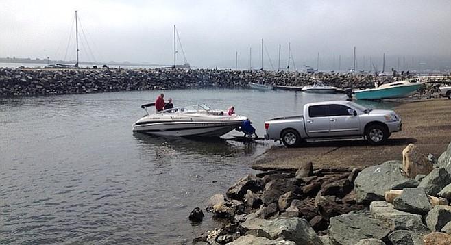 Shelter Island boat ramp
