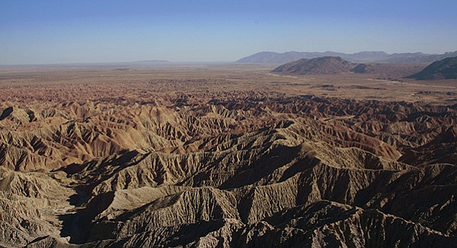 Font's Point in Anza-Borrego Desert State Park, the largest park in California - Image by David Corby