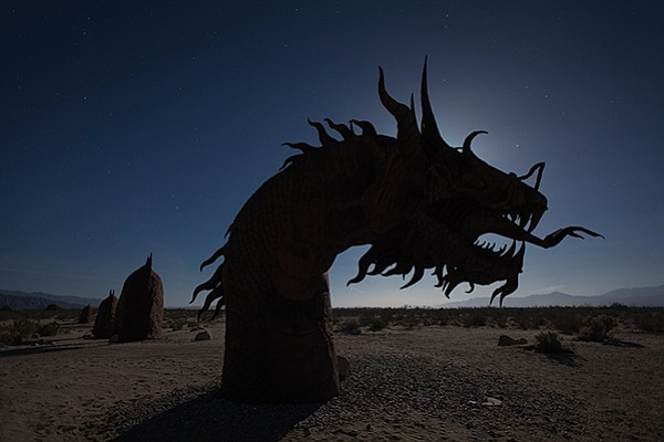 There be dragons in the desert (Borrego Springs sculpture)
