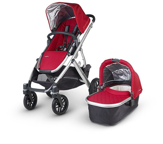 It looks like the UPPAbaby Vista has good wheels! Important for navigating cobblestone streets in Ireland.