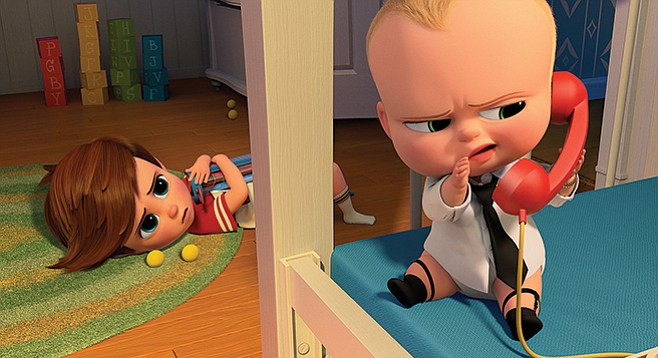 The Boss Baby: The corded toy phone and sock garters aren't the only old-fashioned glories on display.