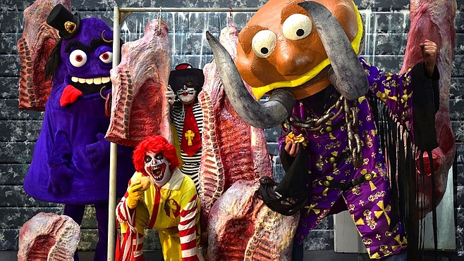 Fast-food metal heads Mac Sabbath bring their Mockstrosity Tour to Brick by Brick on Wednesday.