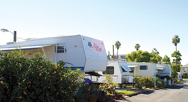 Sandy Shores RV Park used to have a view of the Oceanside harbor but now looks at the four-story Holiday Inn.